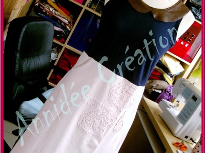 Tuto:  Faire une robe avec 2 tee-shirts