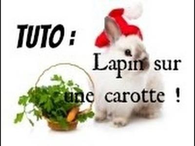 Tuto FIMO  - Lapin sur une carotte!