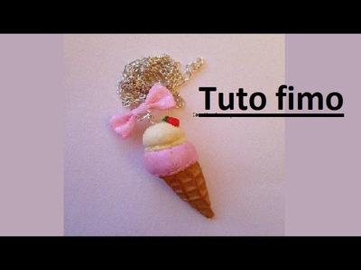 • [TUTO FIMO] Le cornet de glace vanille-fraise •