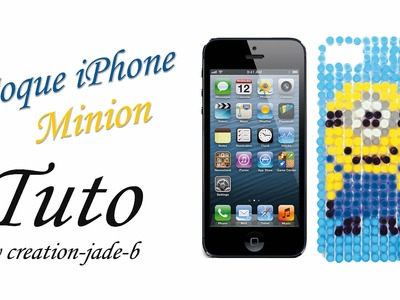 Tuto Perles à repasser (Hama) - Coque Iphone.5 Minion !