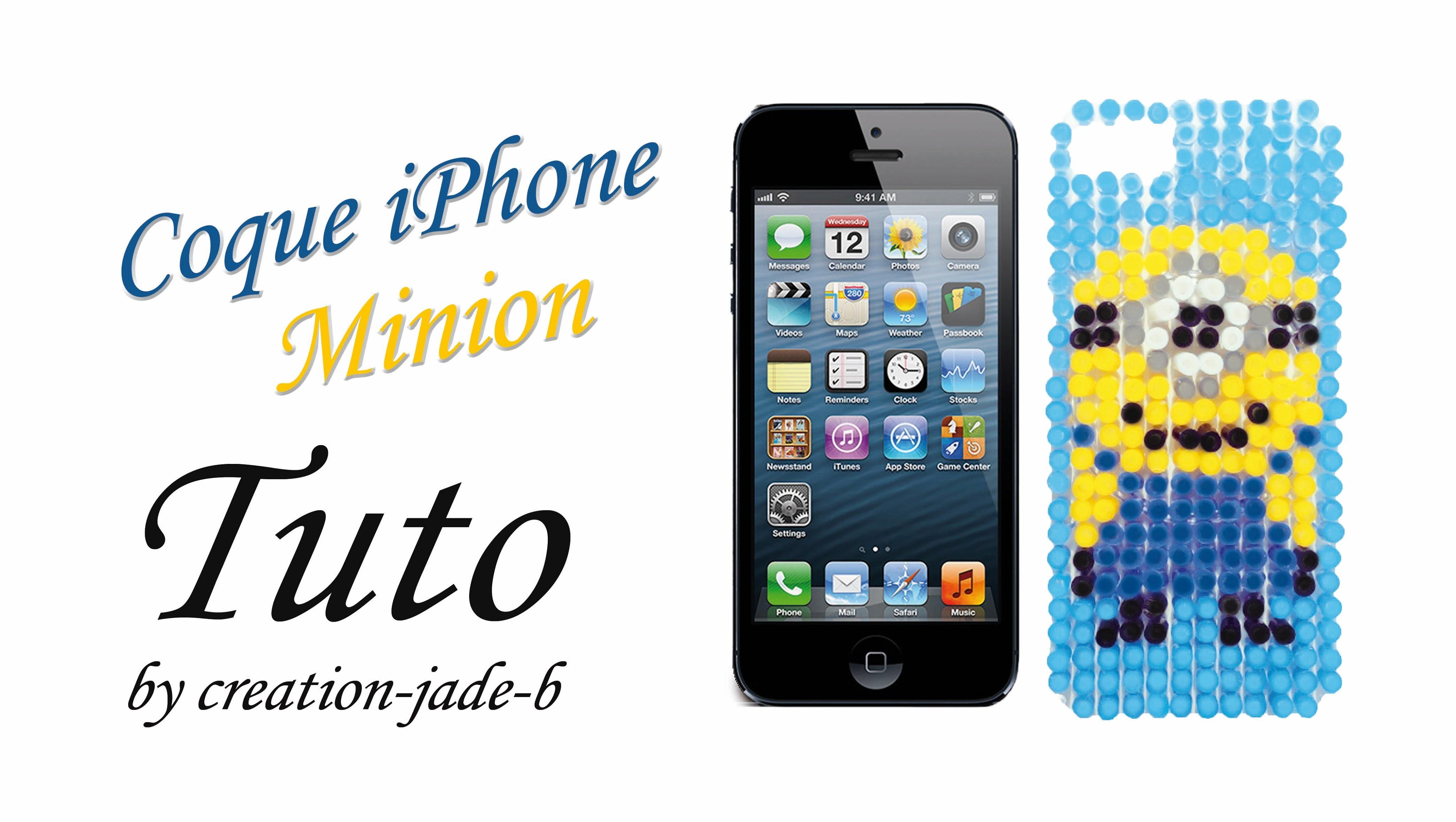 Tuto Perles à Repasser Hama Coque Iphone5 Minion