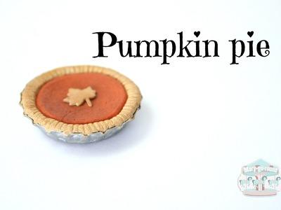 (TUTO) Pumpkin pie en fimo et son plat à tarte