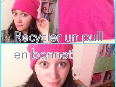Tuto: recycler un pull en bonnet