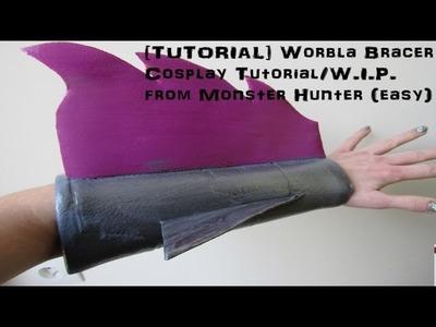 [TUTORIAL] Worbla Bracer Cosplay Tutorial. W.I.P. From Monster Hunter (easy)