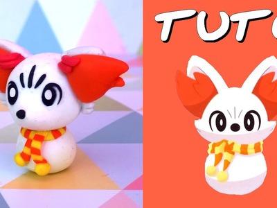 TUTO FIMO NOEL | Feunnec Pokémon de neige. Snow Fennekin (de Pokémon)