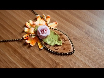 [TUTO] Pendentif Fleur & Nature - Collab de PRINTEMPS. Polymer Clay Spring Collab