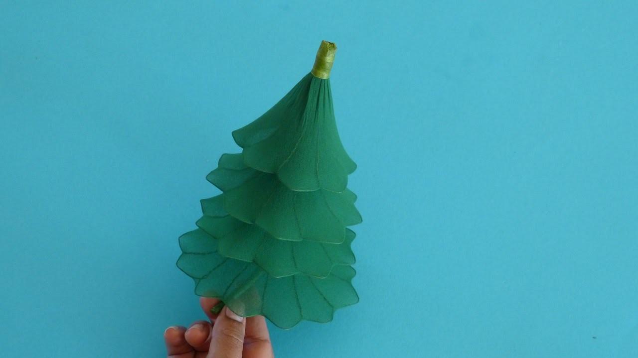 Fabrication dun sapin de no l en collant nylon christmas - Fabrication sapin de noel ...