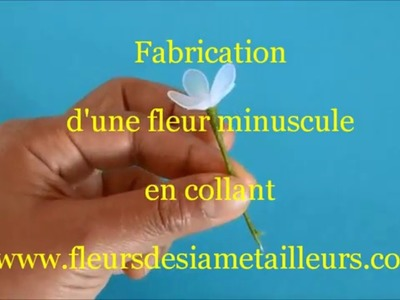 Fabrication d'une fleur minuscule en collant. Tiny Nylon Flower
