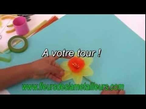 Fabrication d'une jonquille en collant. Nylon Daffodil