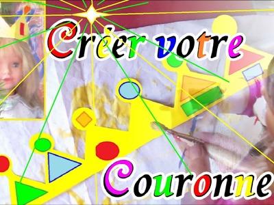Couronne de Roi Reine en papier à fabriquer | Activités en Maternelle