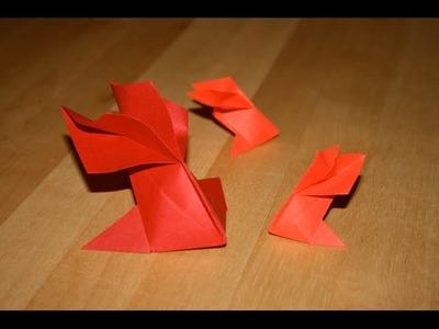 Origami - Poisson: Voile de Chine - Goldfish [Senbazuru]