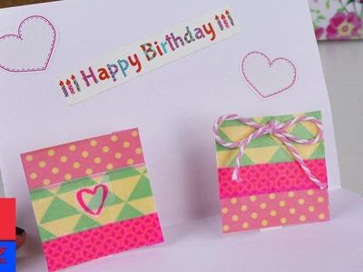 DIY Carte Pop-UP avec des cadeaux | Carde d'anniversaire simple & rapide à faire avec du Washitape