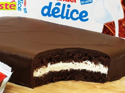Gâteau façon kinder délice géant