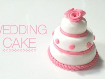 Tuto Fimo Wedding cake. Gateau de mariage