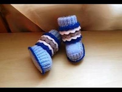 Chausson bottines tricot magnifique 2