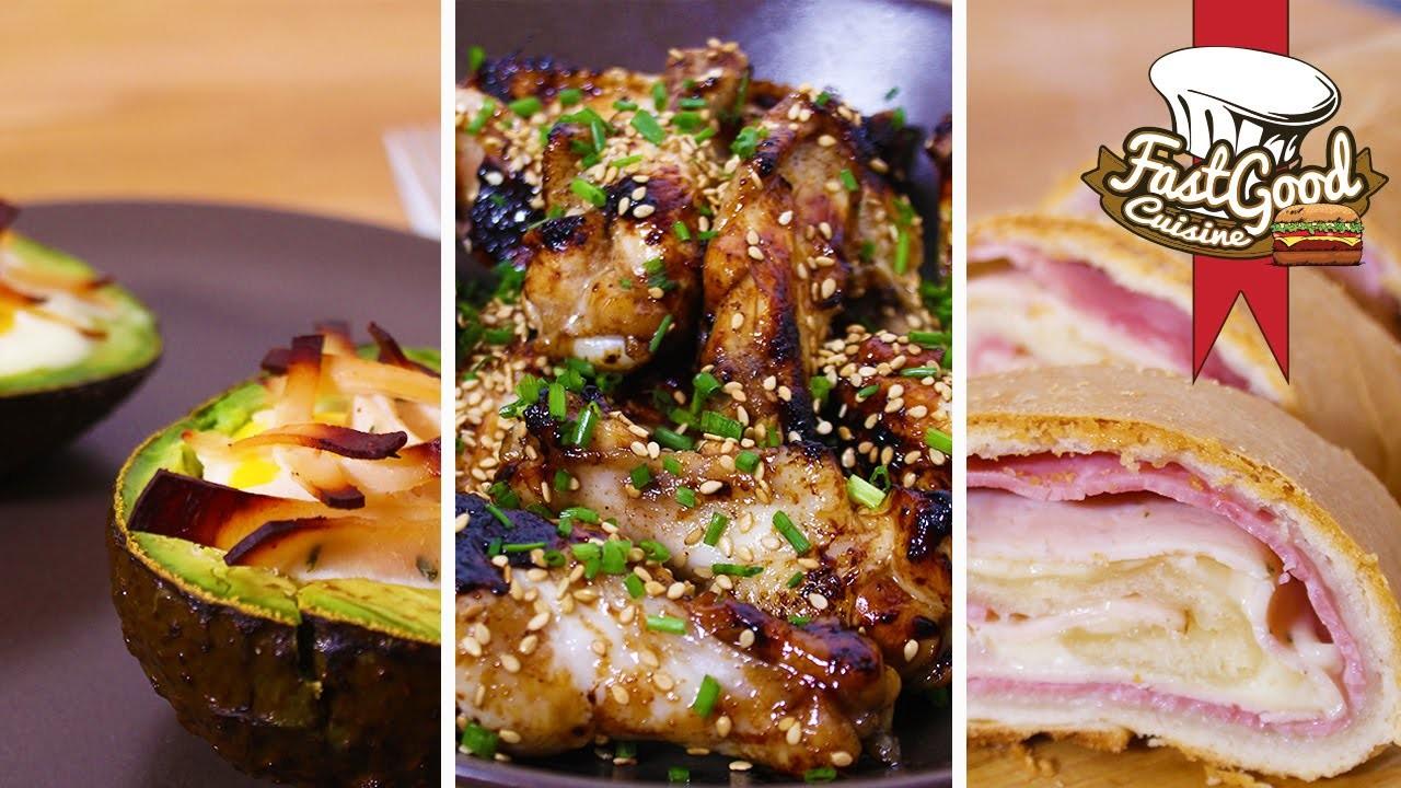 3 Recettes rapides pour le dîner avec 3 ingrédients seulement !