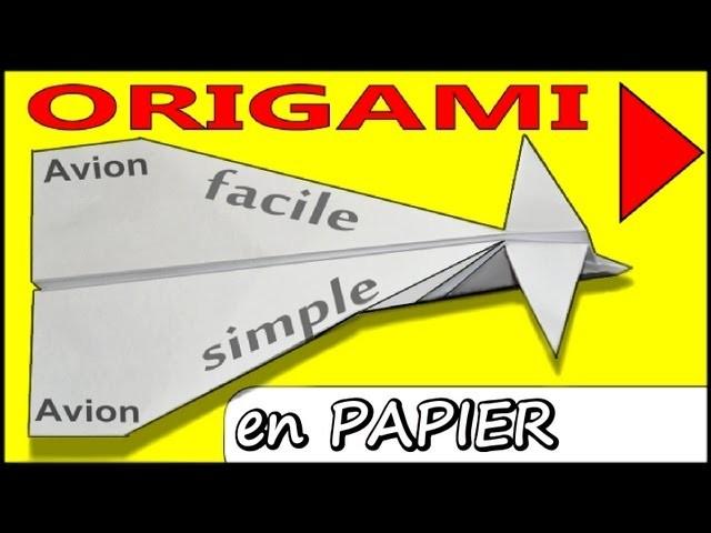 Avion En Papier Origami Planeur Qui Vole Longtemps