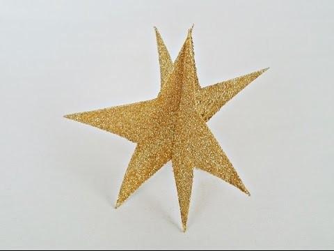 Bricolage Noël : Comment fabriquer une étoile en 3 dimensions