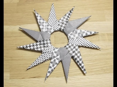 Etoile en origami -