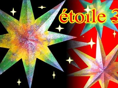 Fabriquer une étoile 3D en papier | Idées bricolage loisirs créatifs