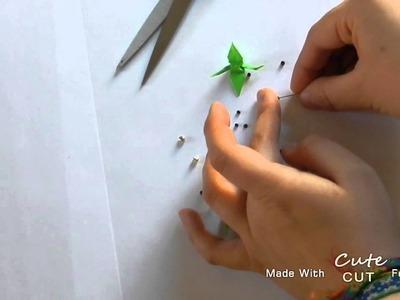 Faire des boucles d'oreille en origami