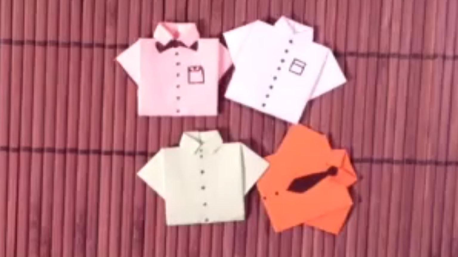 Faire des chemises en origami - Astuce pliage