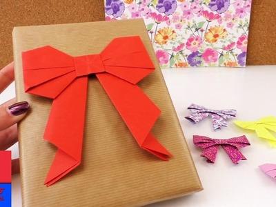 Faire soi-même un noeud origami. Pour papier cadeau. Tutoriel en français