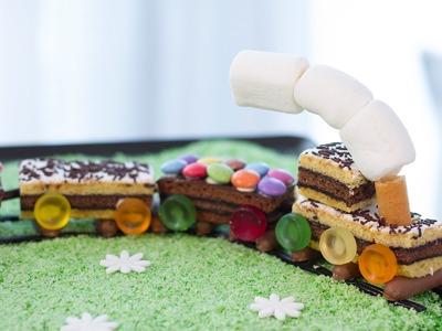 Gâteau train d'anniversaire facile