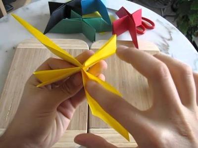L'étoile origami 3d