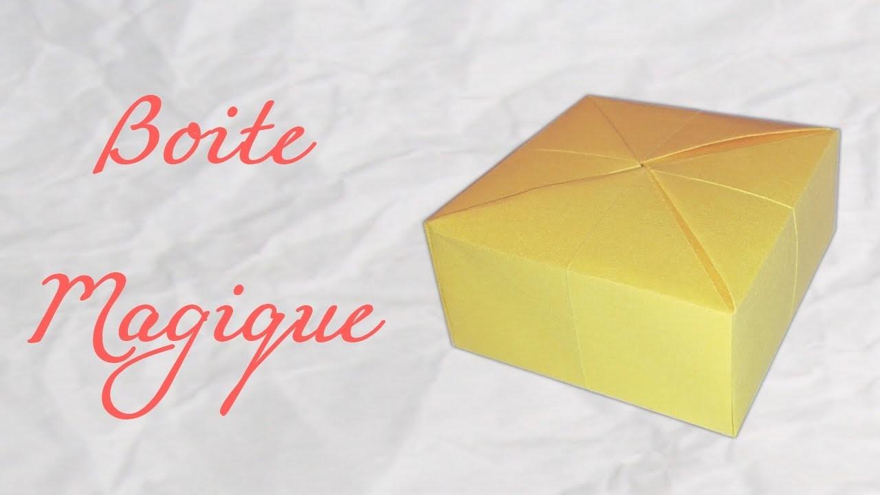 Origami origami boite magique origami boite magique tuto origami boite a crayons masu - Origami boite coeur ...