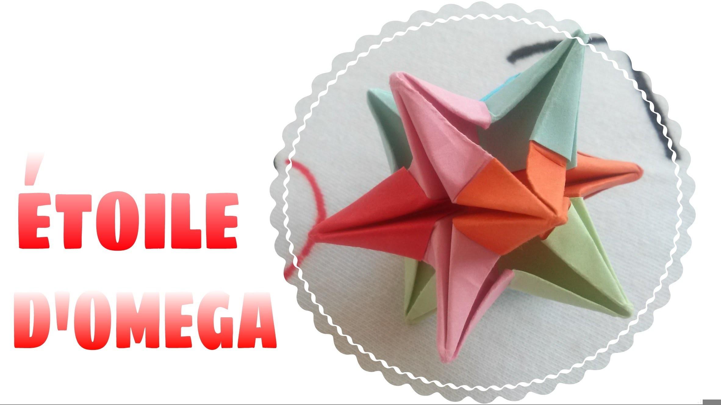origami d coration comment faire une toile domega en papier. Black Bedroom Furniture Sets. Home Design Ideas