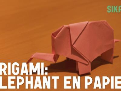 Origami : Faire un éléphant (rose) en papier - HD