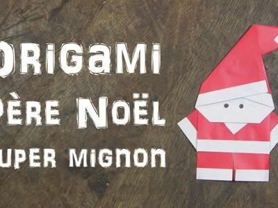 Origami Père Noël super mignon et super facile