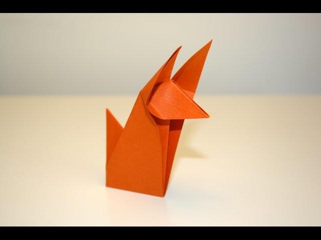 origami renard fox senbazuru. Black Bedroom Furniture Sets. Home Design Ideas