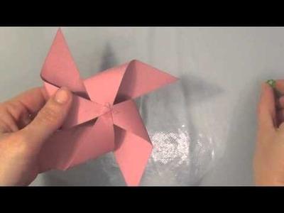 TUTO Activité pour enfant: Fabriquer un moulin à vent
