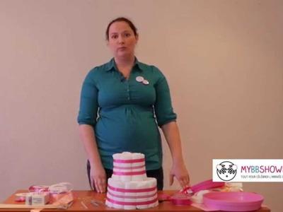 [Tuto] Comment réaliser un gâteau de couches cadeau naissance organisation baby shower DIY