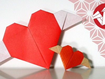 Tuto Origami - Coeur ailé [Senbazuru]