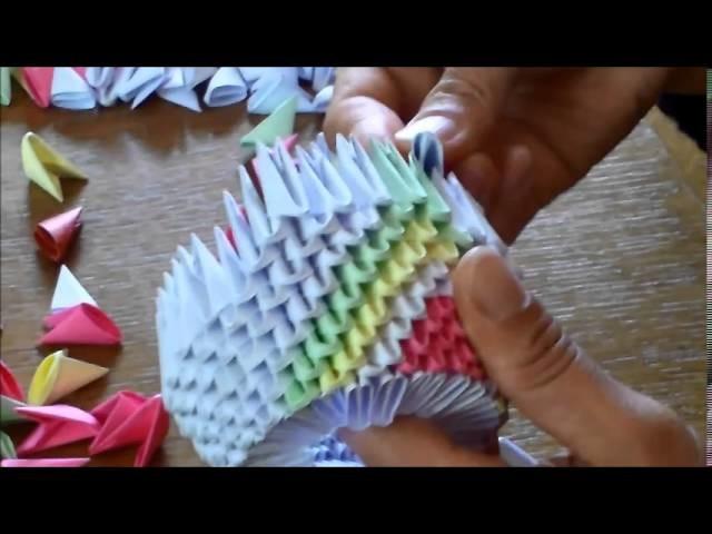 tutoriel comment cr er un cygne origami 3d. Black Bedroom Furniture Sets. Home Design Ideas