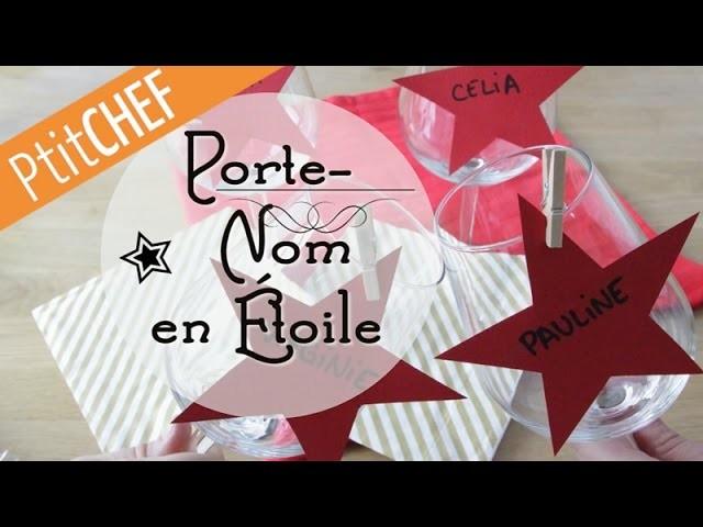 Tutoriel Déco Porte-Nom en étoile, Ptitchef.com, Pas à pas, Stop Motion