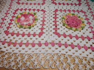 Crochet colcha de cuadrados o granny squares para bebé parte 2 - con Ruby Stedman