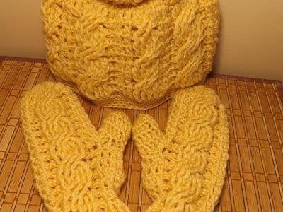 Crochet Mittones De Trenzas
