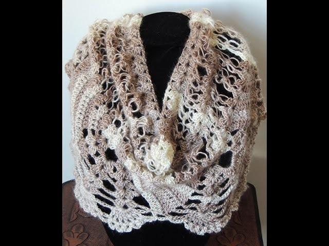 Crochet : Bufanda - Chal.  Parte 3 de 3
