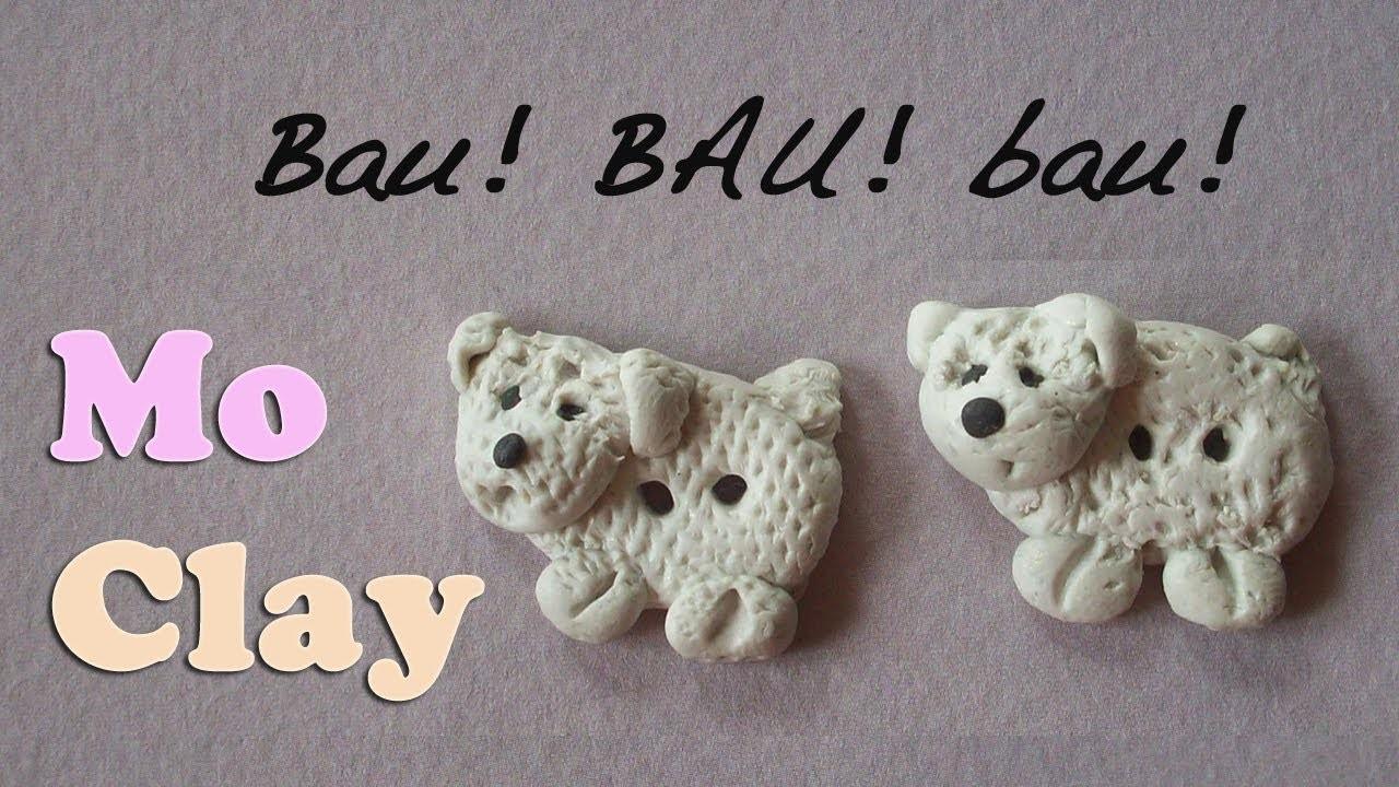 DIY Polymer clay tutorial Poodle buttons. Bottoni Barboncini. Botones en Arcilla polimérica.