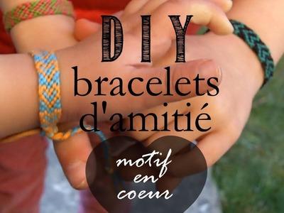 DIY Tutorial : Comment Faire les Bracelets d'Amitiés.Bresiliens, Motif en Coeur