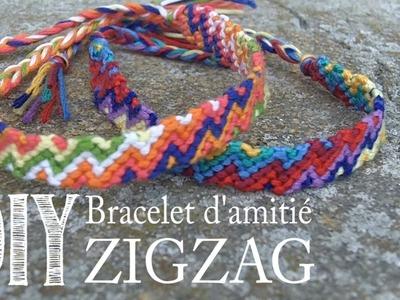 DIY Tuto Bracelet d'amitié.bresilien ZigZag