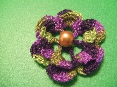 Flor multicolores crochet 2014