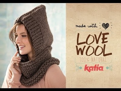 Love Wool DIY: Cuello capucha · Neck warmer & hood