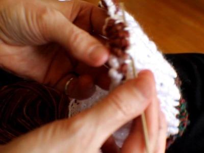 Crochet notions chenilles en éventail