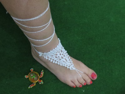 Sandalia de crochet