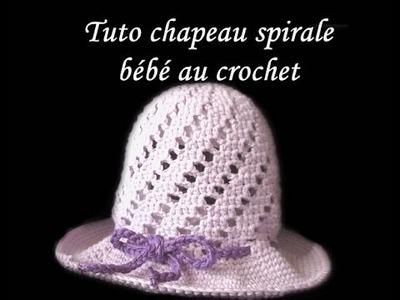 TUTO CHAPEAU CLOCHE SPIRALE POUR BEBE AU CROCHET FACILE